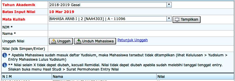 Entry Nilai CSV