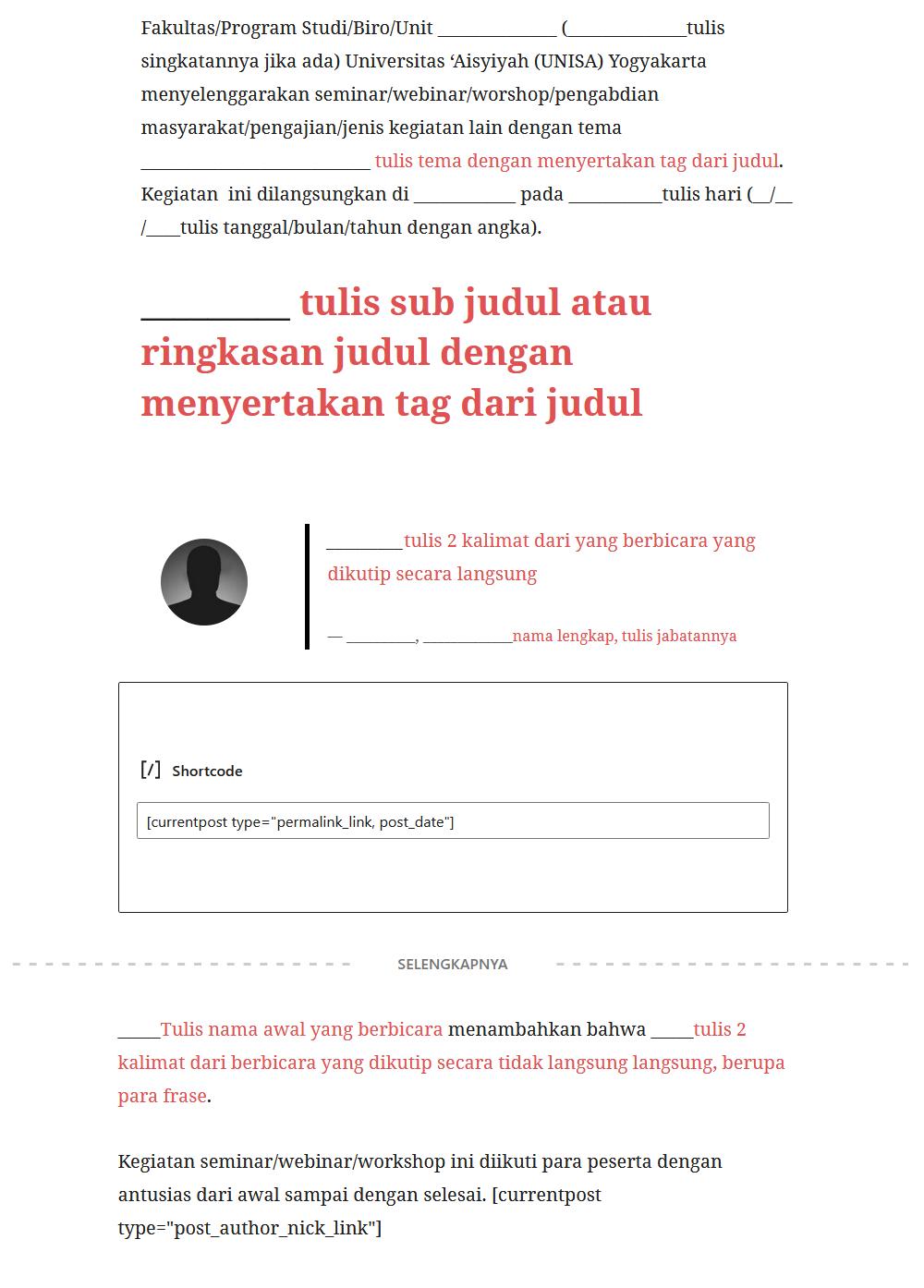 template dengan SEO
