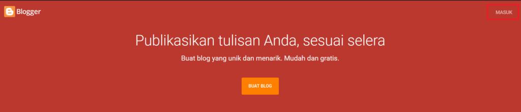 Masuk ke dalam blogger